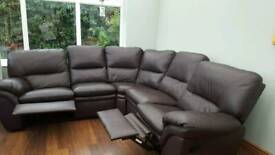 5 seat corner seat sofa with 2 pop up foot rests