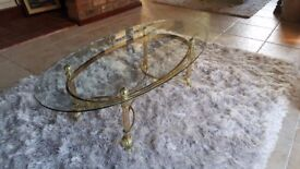 GLASS TOP COFFEE TABLE see details
