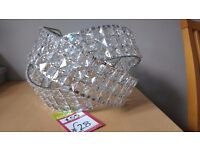 Bedroom Lounge dining room chandelier crystal look sparkly light fitting, new unused.