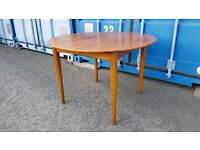 Retro mid-century Mackintosh style extending round dining table