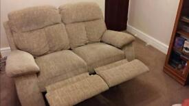 2 seater reclining settee for sale