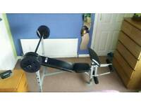 Pro fitness lifting bench with weights 4x5kg