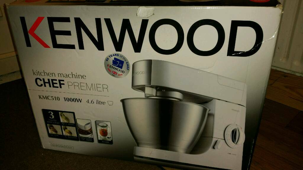 Kenwood Chef Mixerin Lewisham, LondonGumtree - Kenwood Chef Premier KMC510Powerful 1000w motor, 4.6l capacity, four attachments and blender jug included. Brand new. Unwanted gift. (Already have other kenwood mixers!) RRP £220. Grab a bargain