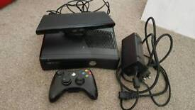 Black xbox360 4g plus 250g hard drive