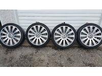 VW 18 '' alloy wheels + 4 x tyres 225 40 18