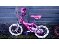 "Girls 14"" Barbie bike"