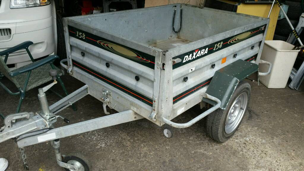 Dextra 158 galvanised tipping trailer