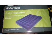 Double Flock Airbed new+blow up pump £20.00