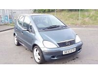 2003 Mercedes Benz A Class 1.4 Petrol 5 Door 1 Owner 1 year MOT 64000 Miles Only....