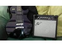 Jersey 2 guitar and Gear4music amp