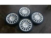 "VW GOLF MK4 18"" ALLOY WHEELS WITH TYRES 225/40/18"