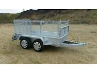 8 2 X 4 2 twin axle trailer stamped mesh sides removable Cookstown