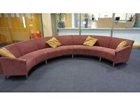 Skandiform modular, sectional curved round sofa