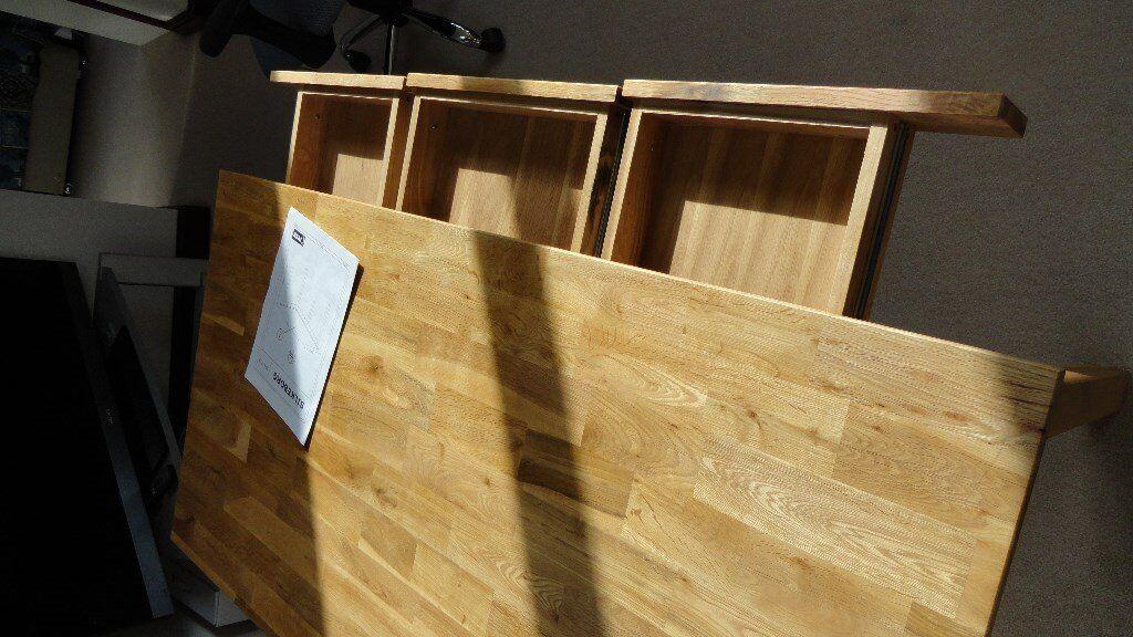 Desk oak sections draw silkeborg desk from jysk item no