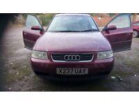 Audi A3 1.9 TDI SE in good condition.