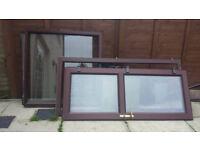 brown pvc door and window , PRICE DROP