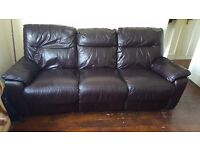 3 seater recliner sofa to go immediately