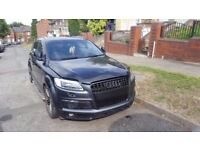 DAMAGED AUDI Q7 WITH DENTED BACK WHEEL ARCH