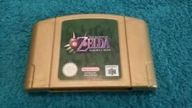 N64 THE LEGEND OF ZELDA MAJORA'S MASK GOLD CART!