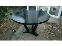 Kitchen table black