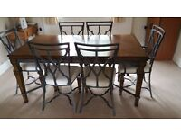 Solid Wooden Dining Table & Six Chairs | Dining Table