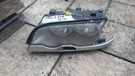 BMW 3 HEAD LAMP E46 98-2005 NEAR SIDE