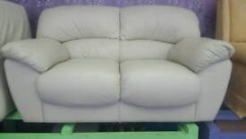 Cream Sofa / Poufee