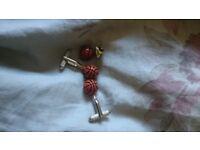Basketball cufflinks and lapel pin