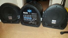 Mixpack Alto Express portable powered PA system