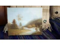 Oil Painted Canvas