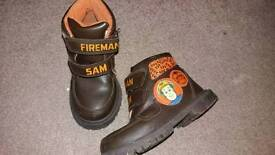 Boys Size 8 Fireman Sam boots and slippers