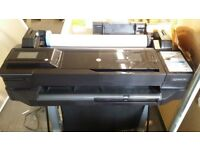 HP T120 Plotter 24 inch large format printer AND STAND