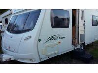 Lunar Quasar 534 4 berth - fixed memory foam bed - 2009 Caravan with lots of extras!