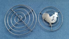 2 Pot Stands, Stainless Steel, Good condition, Contact me soon as possible, Cheap price BOTH for £4