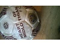 heart match ball signed 2007