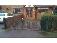 Good quality wrought iron gates