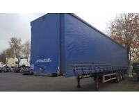 crane fruehauf 13.6 metre triaxle 4.2 metre high curtainside trailer tested 2018 plus vat