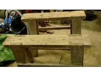 Wooden horse/tressles