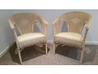 PAIR OF WICKER CHAIRS - Good Condition!