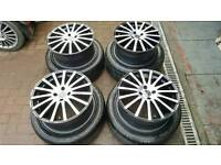 "Wolfrace 17"" alloys like new with tyres vw vauxhall bmw ect"