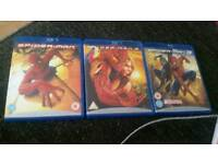 Spiderman Blue ray dvds