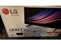 LG 43uh61 UHD 4K HDR IPS TV - Spare or Repair = damaged screen
