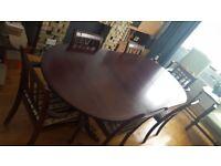 Regency Dining Table - Mahogany imitation