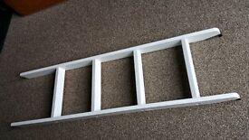 wooden bunk bed ladder