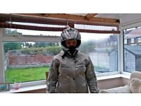 LADIES BERING TEXTILE BIKER JACKET WITH CE PROTECTORS & QUILTED THERMAL LINING SIZE 14/16