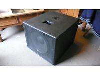 "Gemini GVX Passive DJ Home 15"" SUB-1535 Bass Bin 8 ohm 250w Speaker Cab Stand"
