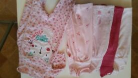 0-3 months baby pink clothes bundle
