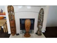 3 hand carved Tribal masks