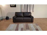 Ex-display brown leather sofa bed