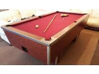 Snooker - Pool Table 7x4 Slate Bed Great British Professional For Sale! Bargain!!